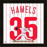 Cole Hamels, Phillies representation of the player's jersey Framed Memorabilia