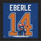 Jordan Eberle, Oilers representation of the player's jersey Framed Memorabilia