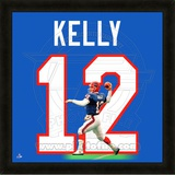 Jim Kelly, Bills representation of the player's jersey Framed Memorabilia