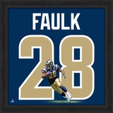 Marshall Faulk, Rams representation of the player's jersey Framed Memorabilia