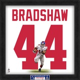 Limited Edition: Ahmad Bradshaw, Giants representation of the player&#39;s jersey Framed Memorabilia