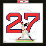 Carlton Fisk, Red Sox representation of the player&#39;s jersey Framed Memorabilia