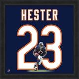 Devin Hester, Bears representation of the player's jersey Framed Memorabilia