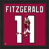Larry Fitzgerald, Cardinals representation of the player's jersey Framed Memorabilia