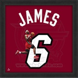 Lebron James, Heat photographic representation of the player's jersey Framed Memorabilia
