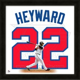 Jason Heyward, Braves representation of the player's jersey Framed Memorabilia