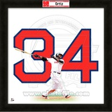 David Ortiz, Red Sox representation of the player's jersey Framed Memorabilia