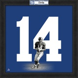 Y.A. Tittle, Giants representation of the player's jersey Framed Memorabilia