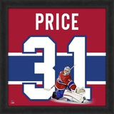 Carey Price, Canadiens photographic representation of the player's jersey Framed Memorabilia