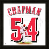 Aroldis Chapman, Reds representation of the player's jersey Framed Memorabilia