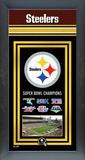 Pittsburgh Steelers Framed Championship Banner Framed Memorabilia