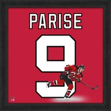Zach Parise, Devils representation of the player's jersey Framed Memorabilia