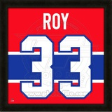 Patrick Roy, Canadiens photographic representation of the player's jersey Framed Memorabilia