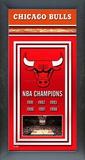 Chicago Bulls Framed Championship Banner Framed Memorabilia