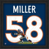 Von Miller, Broncos representation of the player's jersey Framed Memorabilia