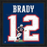 Tom Brady, Patriots photographic representation of the player's jersey Framed Memorabilia