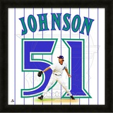 Randy Johnson, DBacks representation of the player's jersey Framed Memorabilia