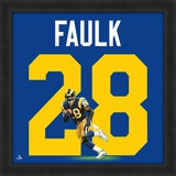 Marshall Faulk, Rams Retro representation of the player's jersey Framed Memorabilia