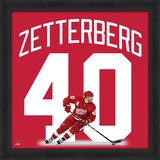 Henrik Zetterberg, Red Wings photographic representation of the player&#39;s jersey Framed Memorabilia