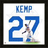 Matt Kemp, Dodgers representation of the player's jersey Framed Memorabilia