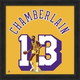 Wilt Chamberlain, Lakers photographic representation of the player's jersey Framed Memorabilia