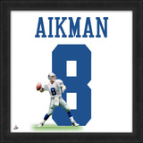 Troy Aikman, Cowboys photographic representation of the player's jersey Framed Memorabilia