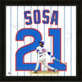 Sammy Sosa, Cubs representation of the player's jersey Framed Memorabilia