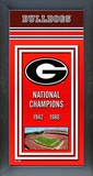 University of Georgia Bulldogs Framed Championship Banner Framed Memorabilia