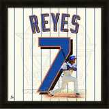 Jose Reyes, Mets representation of the player's jersey Framed Memorabilia