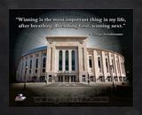 Yankee Stadium – George Steinbrenner ProQuote Framed Memorabilia
