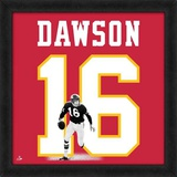 Len Dawson, Chiefs representation of the player's jersey Framed Memorabilia