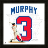 Dale Murphy, Braves representation of the player's jersey Framed Memorabilia