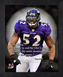 Ray Lewis ProQuote Framed Memorabilia