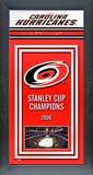 Carolina Hurricanes Framed Championship Banner Framed Memorabilia