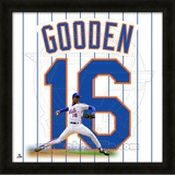 Doc Gooden, Mets representation of the player's jersey Framed Memorabilia