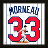 Justin Morneau, Twins representation of the player's jersey Framed Memorabilia