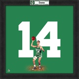 Bob Cousy, Celtics  Representation of the player's jersey Framed Memorabilia
