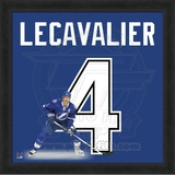 Vincent Lecavalier, Lightning representation of the player&#39;s jersey Framed Memorabilia