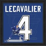 Vincent Lecavalier, Lightning representation of the player's jersey Framed Memorabilia