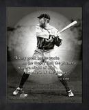 Ty Cobb ProQuote Framed Memorabilia