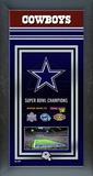 Dallas Cowboys Framed Championship Banner Framed Memorabilia