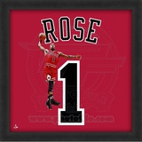 Derrick Rose, Bulls photographic representation of the player's jersey Framed Memorabilia