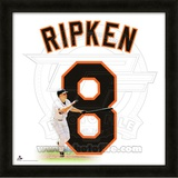 Cal Ripken Jr., Orioles representation of the player's jersey Framed Memorabilia