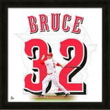 Jay Bruce, Reds representation of the player's jersey Framed Memorabilia
