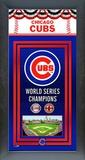 Chicago Cubs Framed Championship Banner Framed Memorabilia
