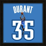 Kevin Durant, Thunder photographic representation of the player's jersey Framed Memorabilia