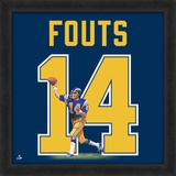 Dan Fouts, Chargers representation of the player's jersey Framed Memorabilia
