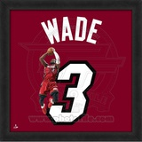 Dwyane Wade, Heat photographic representation of the player's jersey Framed Memorabilia