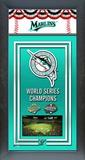 Florida Marlins Framed Championship Banner Framed Memorabilia