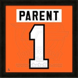 Bernie Parent, Flyers photographic representation of the player's jersey Framed Memorabilia